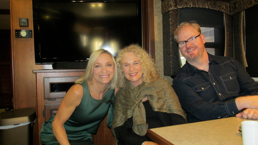 Nancy with Carole King and Jim Gaffigan