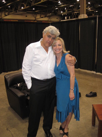 Nancy with Jay Leno