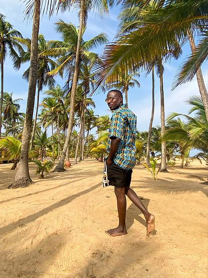 Camisa Dahomey blue