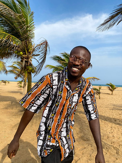Camisa Dahomey orange