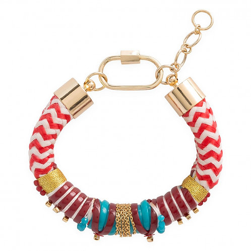 Bracelets Leopold rouge