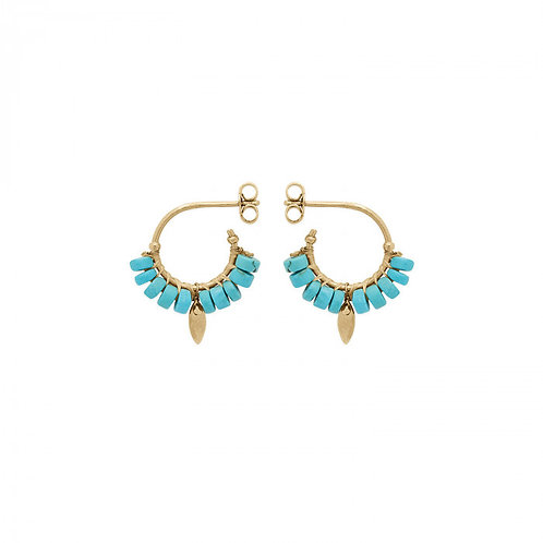 Boucle d'oreille Bryce turquoise