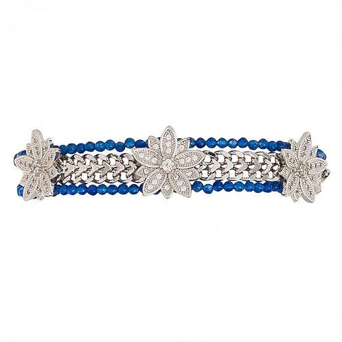 Bracelet Gaby Bleu/Silver