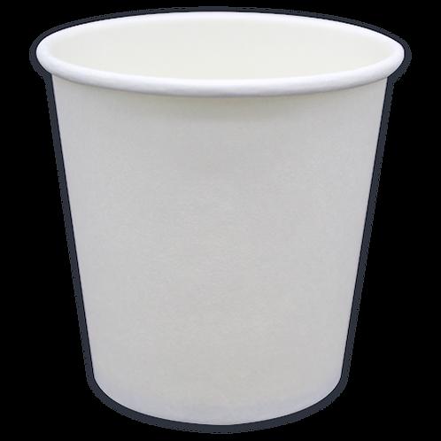 4oz Vaso hot blanco liso