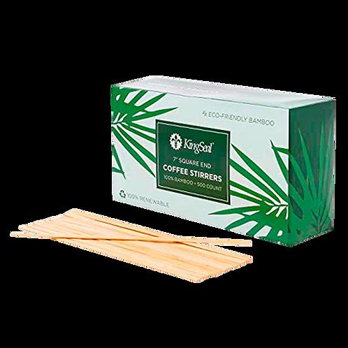 """Agitadores de bambu 7"""""""