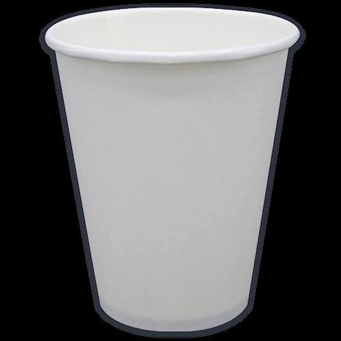 8oz Vaso P/caliente blanco caja