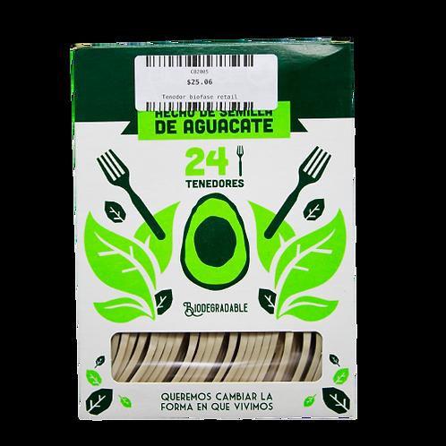 Tenedor biodegradable