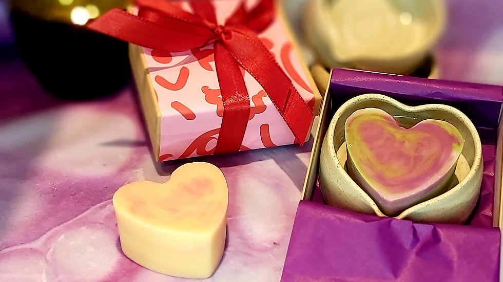 Soap Dish & Heart Soap