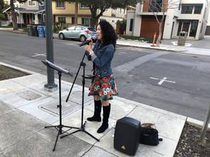 Sidewalk Serenade Brings Valentine's Day Spirit to Seniors Stuck Indoors at Channing House