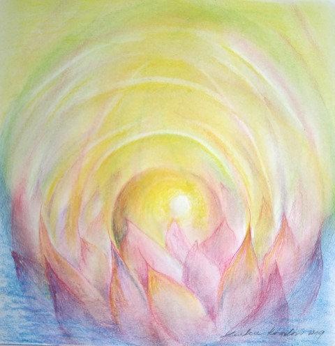 KVĚT, pastel, 20x20 cm, 2019