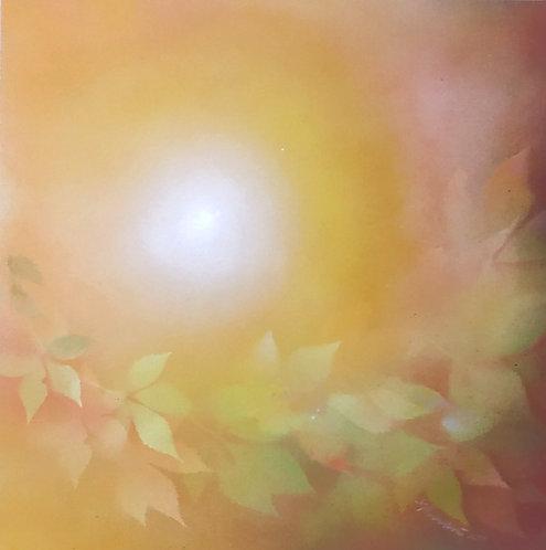 PODZIMNÍ SLUNCE III, akryl na plátně, 2020, 50x50 cm