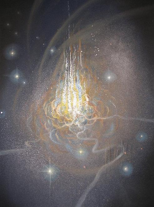 TŘINÁCTÁ KOMNATA, suchý pastel, 2009, 70x90 cm