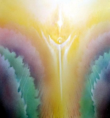 SAMÁDHÍ, akryl na plátně, 2019, 50x50 cm