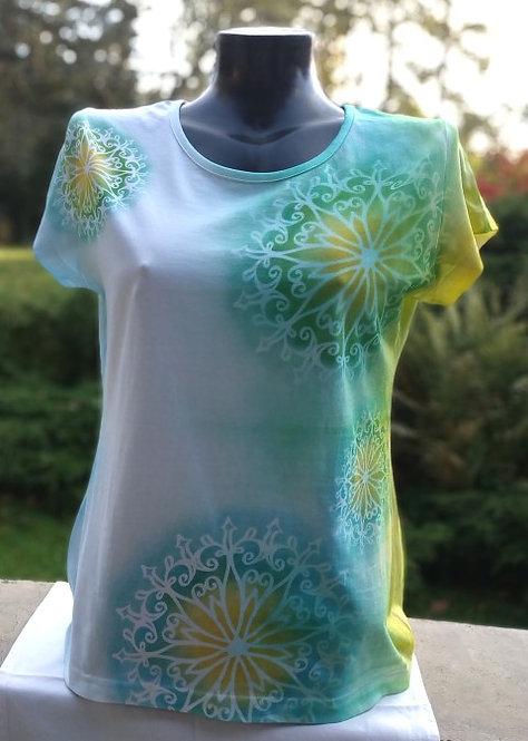Bavlněné tričko Mandala, velikost L