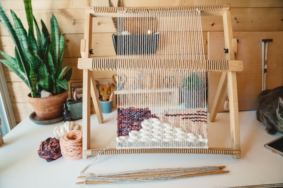 Weaving Set on Desk | Product Photography + Styling | Chromatone Studios