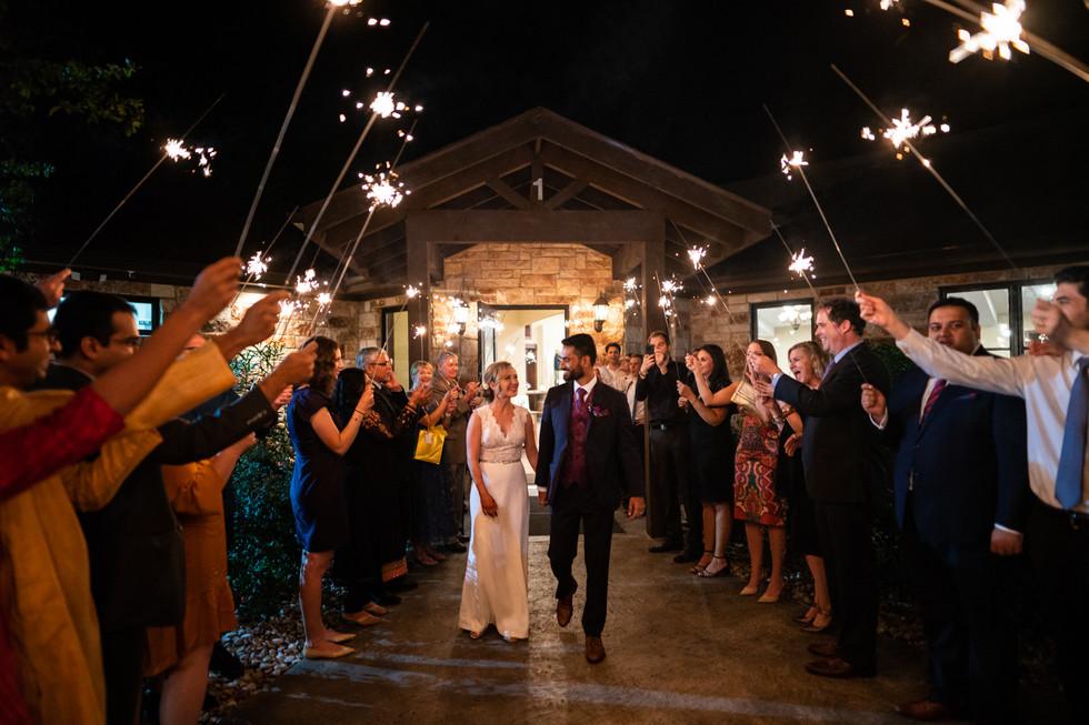 Wedding Reception With Sparklers | Wedding Photography | Chromatone Studios