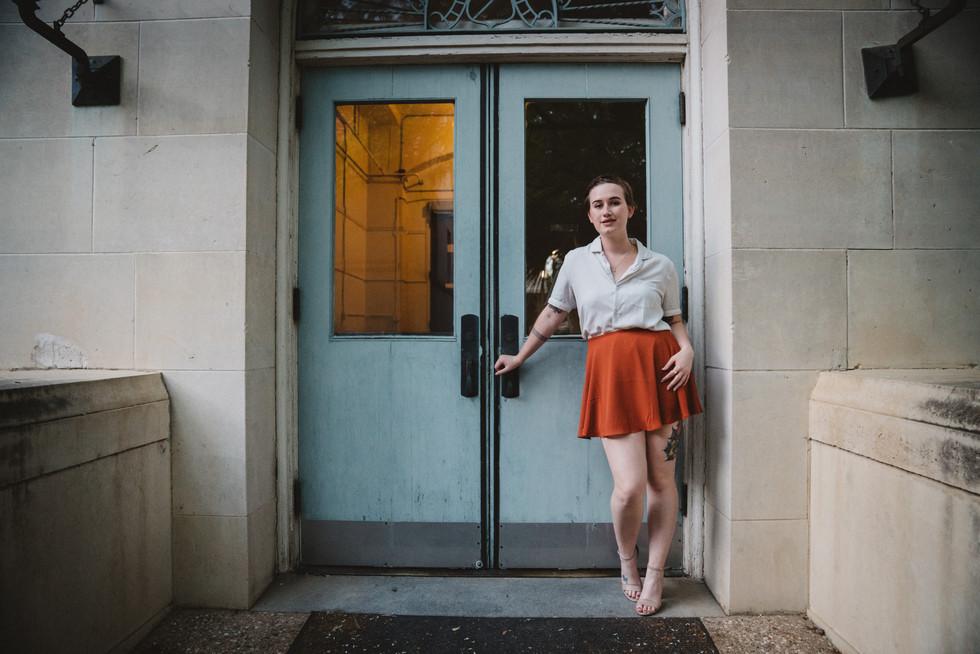 Woman Standing in Doorway | Portrait/Fashion Photography | Chromatone Studios