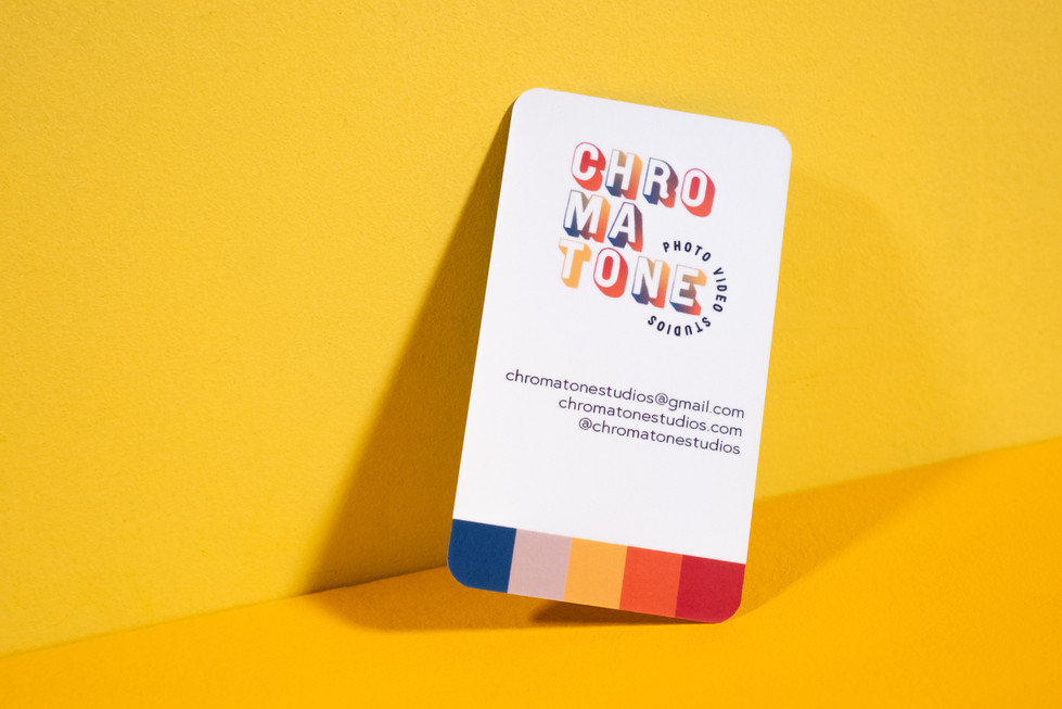 Business Card on Yellow | Product Photography + Styling | Chromatone Studios