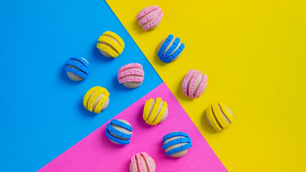 Colorful Concha Earrings | Product Photography + Styling | Chromatone Studios