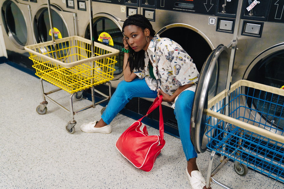 Woman in Washing Machine | Portrait/Fashion Photography | Chromatone Studios