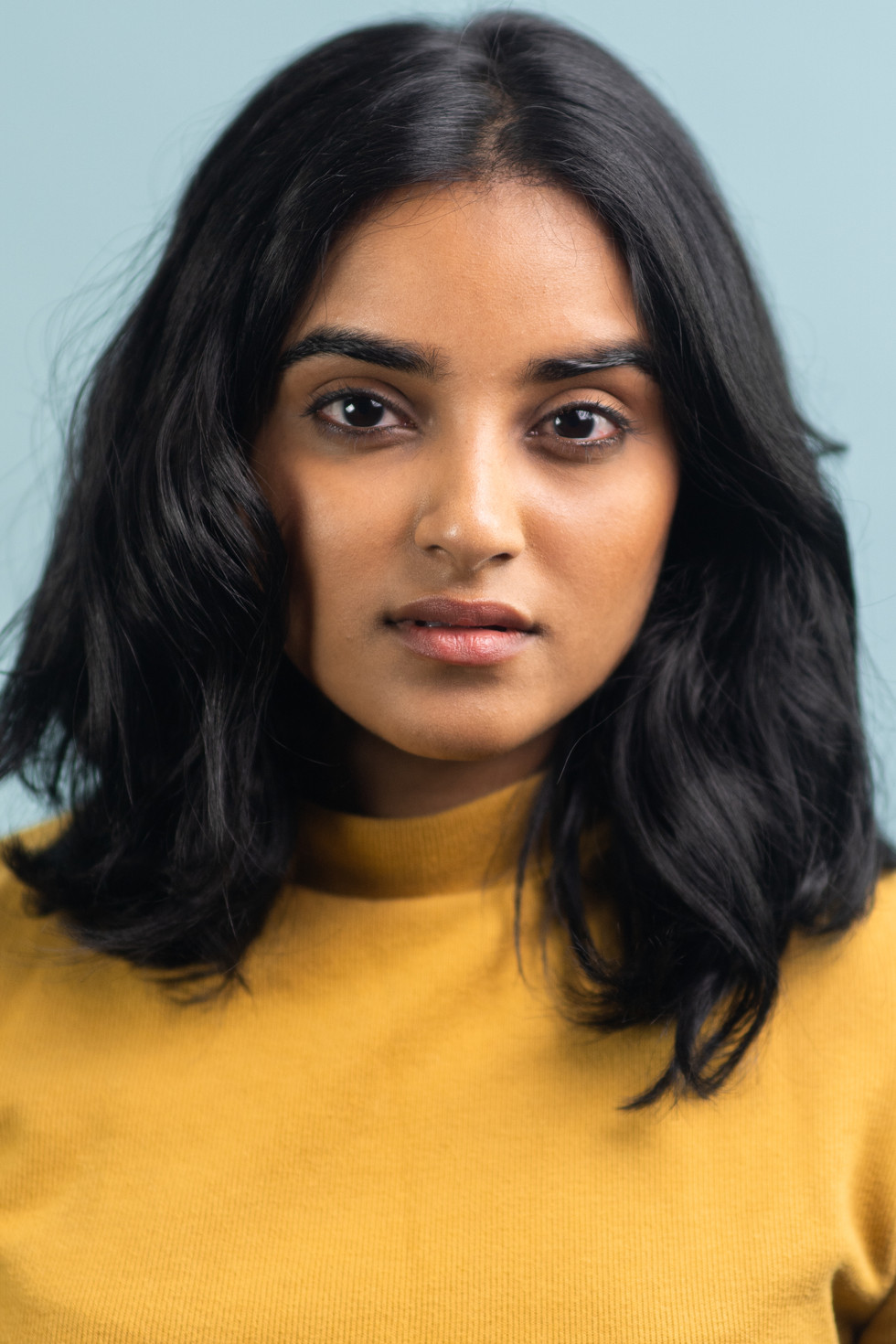 Actor Headshot on Blue | Portrait/Fashion Photography | Chromatone Studios