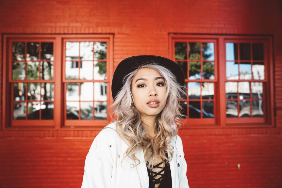 Model With Hat + Brick Wall | Portrait/Fashion Photography | Chromatone Studios