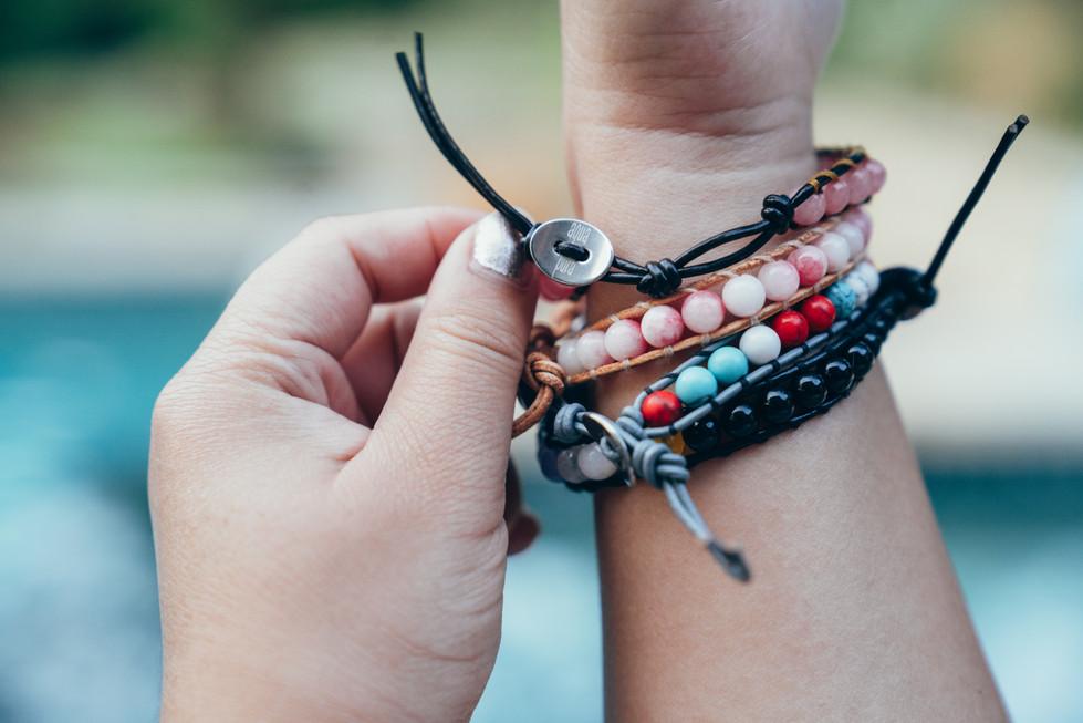 Beaded Bracelets on Hand | Product Photography + Styling | Chromatone Studios