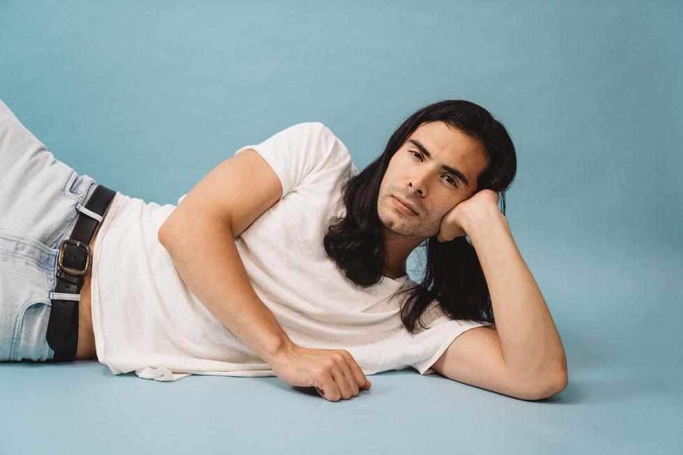 Man in White T Shirt Poses for Portrait | Portrait/Fashion Photography | Chromatone Studios