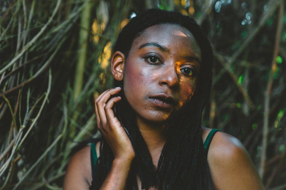 Model With Bamboo | Portrait/Fashion Photography | Chromatone Studios
