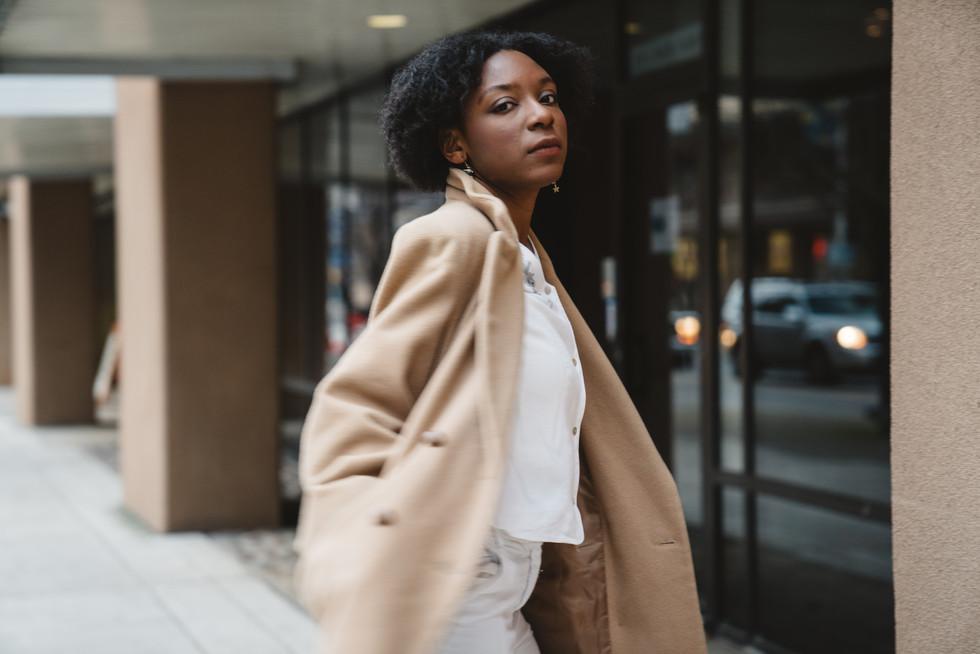 Model in Tan Jacket | Portrait/Fashion Photography | Chromatone Studios