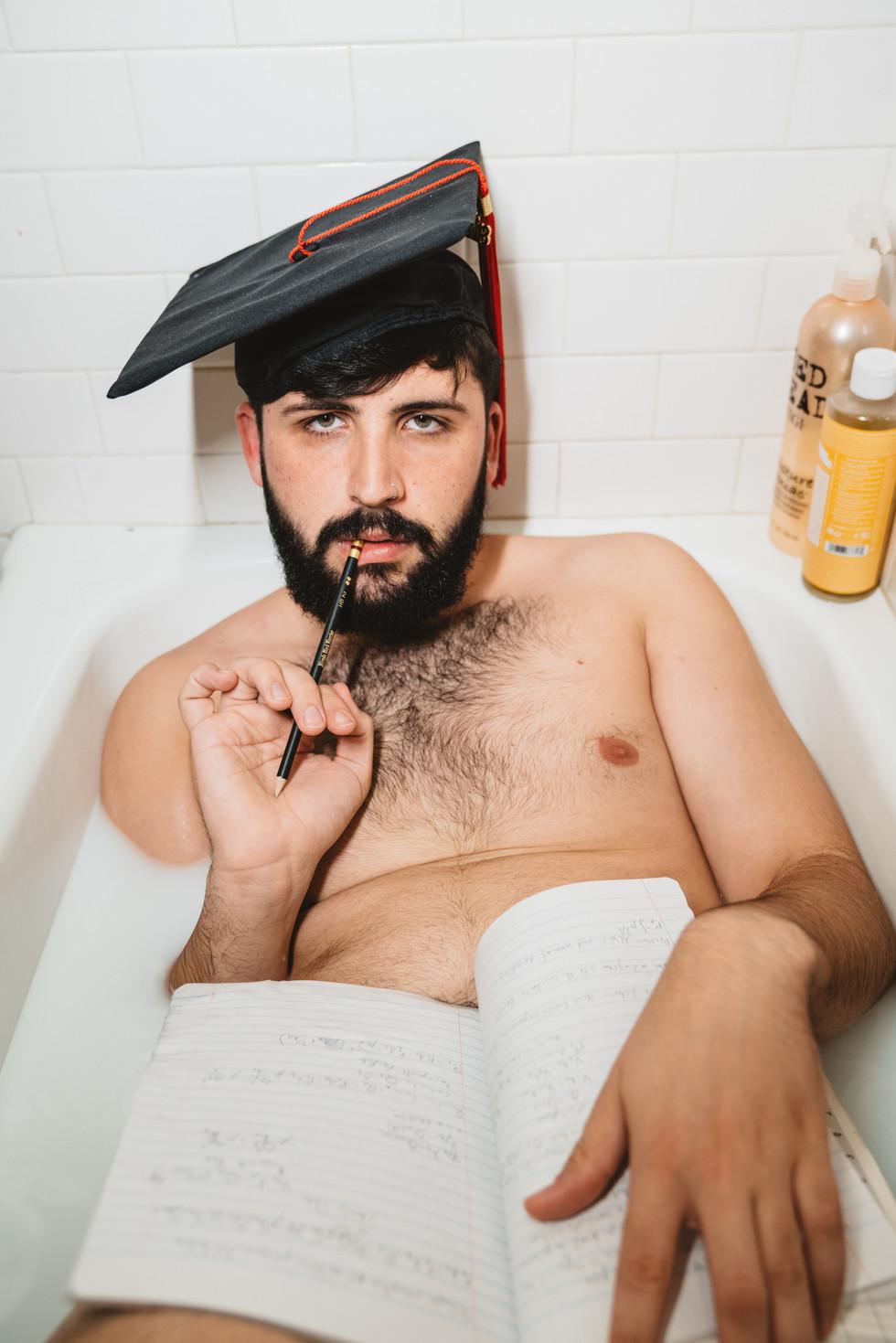 College Student in Bathtub | Portrait/Fashion Photography | Chromatone Studios