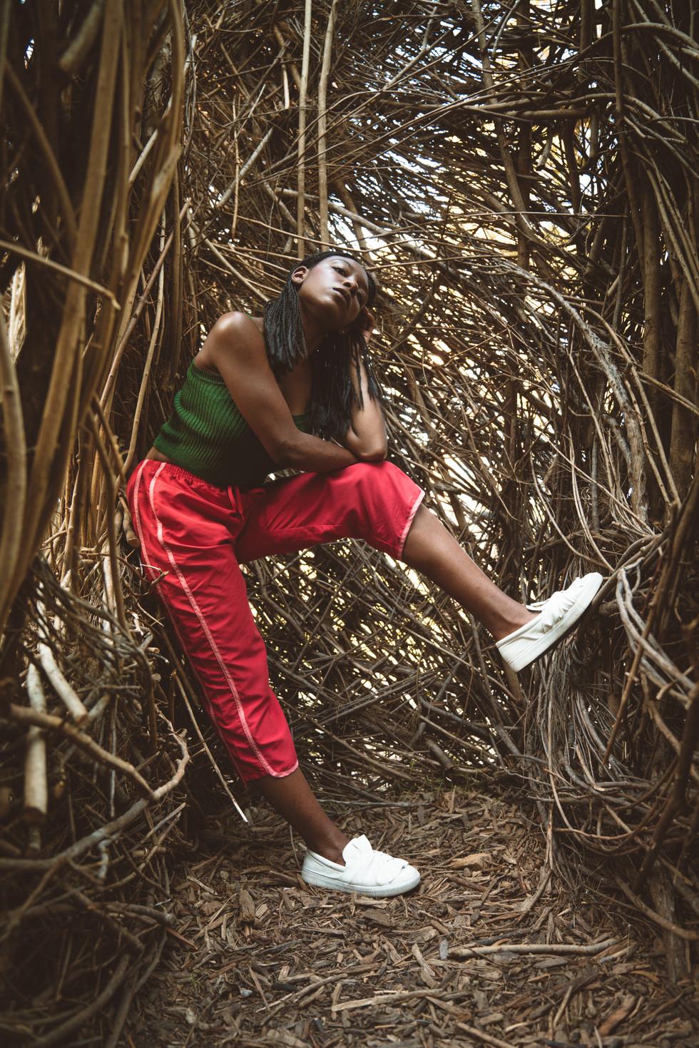 Model in Tree Sculpture | Portrait/Fashion Photography | Chromatone Studios