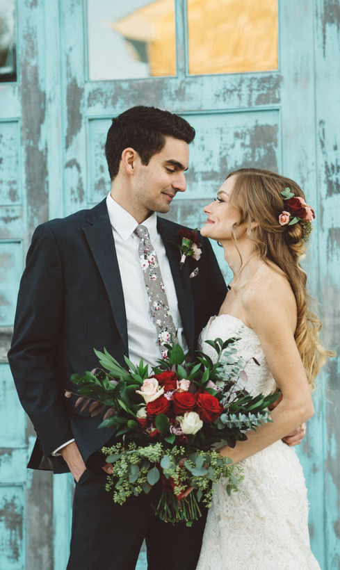 Bride + Groom Looking at Each Other | Wedding Photography | Chromatone Studios