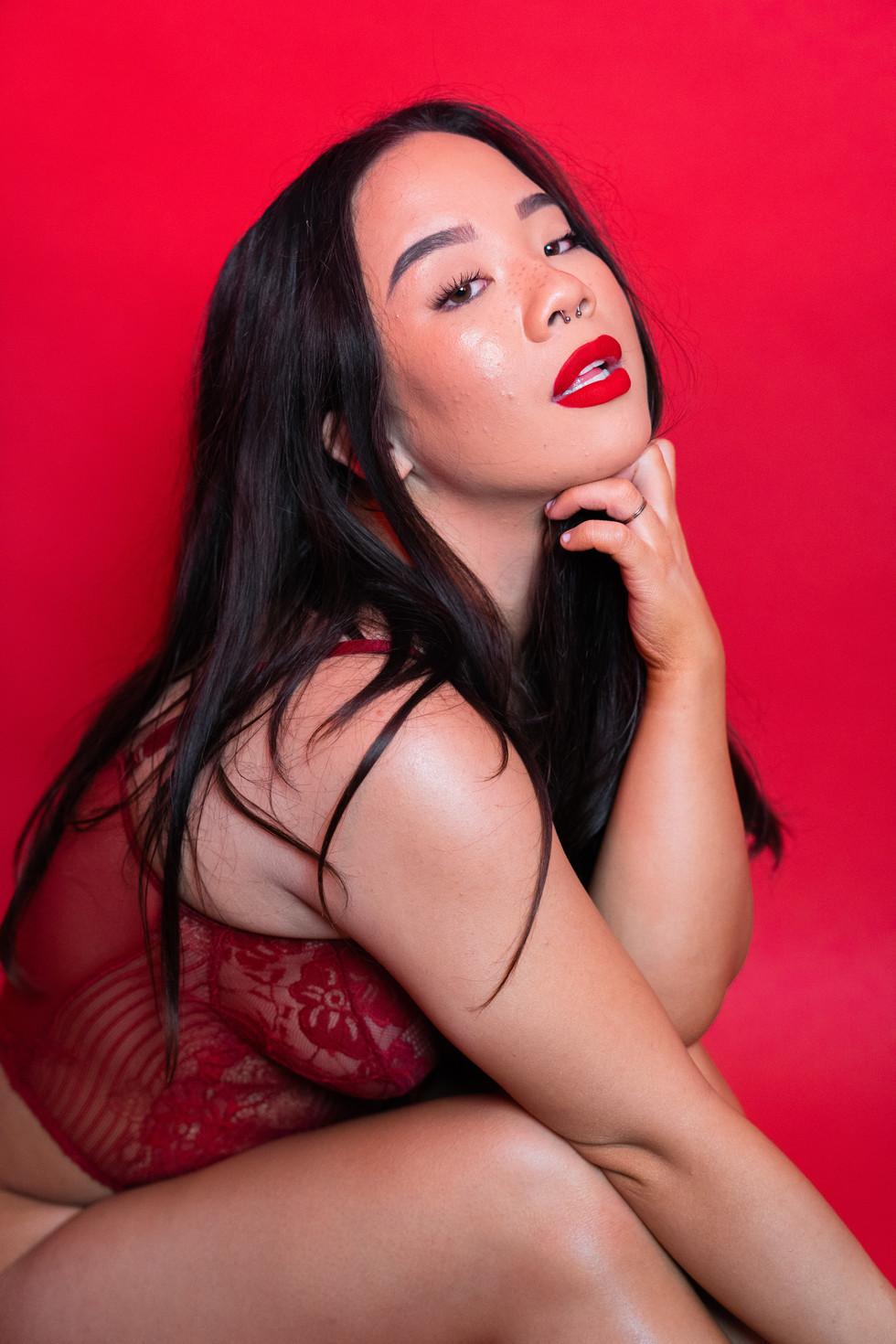Girl With Red Lipstick | Portrait/Fashion Photography | Chromatone Studios