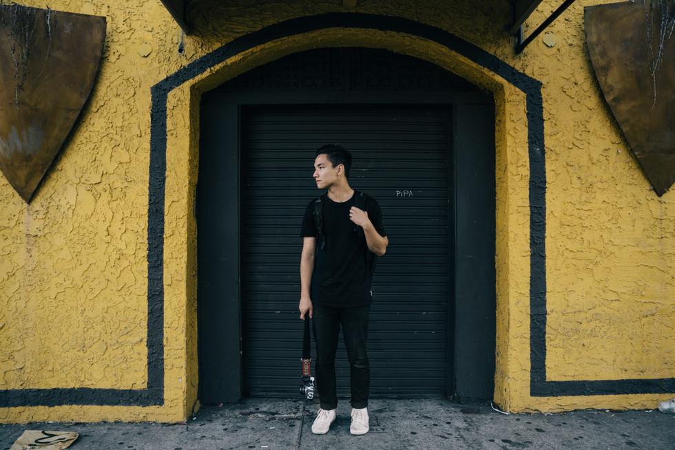 Photographer Standing in Doorway | Portrait/Fashion Photography | Chromatone Studios