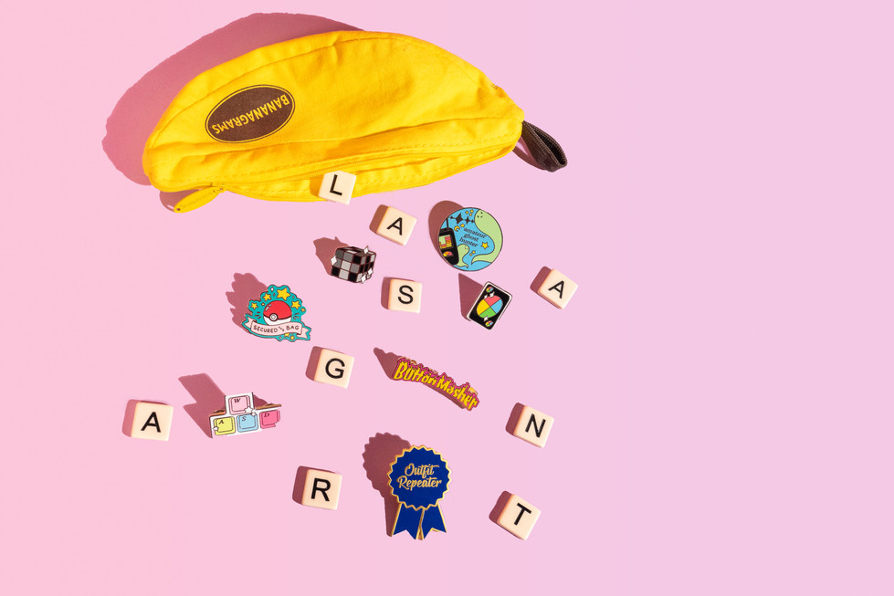 Bananagrams With Pins | Lasagnart | Product Photography + Styling | Chromatone Studios