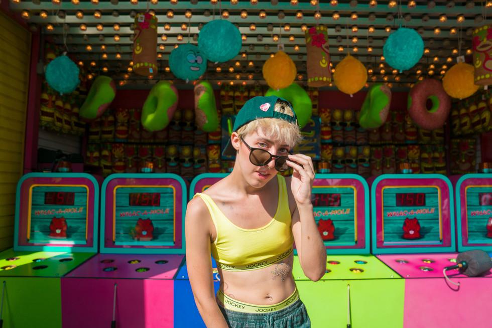 Model at Colorful Carnival | Portrait/Fashion Photography | Chromatone Studios