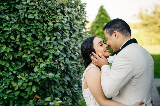 Bride and Groom Smiling Outdoors | Wedding Photography | Chromatone Studios