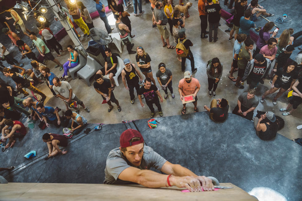 Rock Climber with Crowd | Commercial Photography | Chromatone Studios