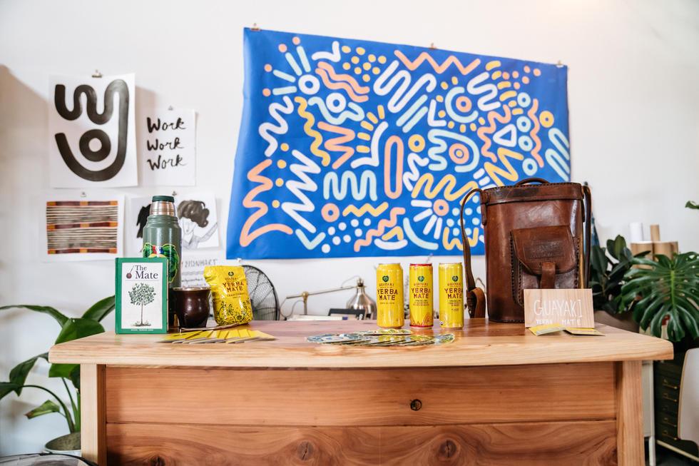 Yerba Mate at Office | Guayaki Yerba Mate | Commercial Photography | Chromatone Studios