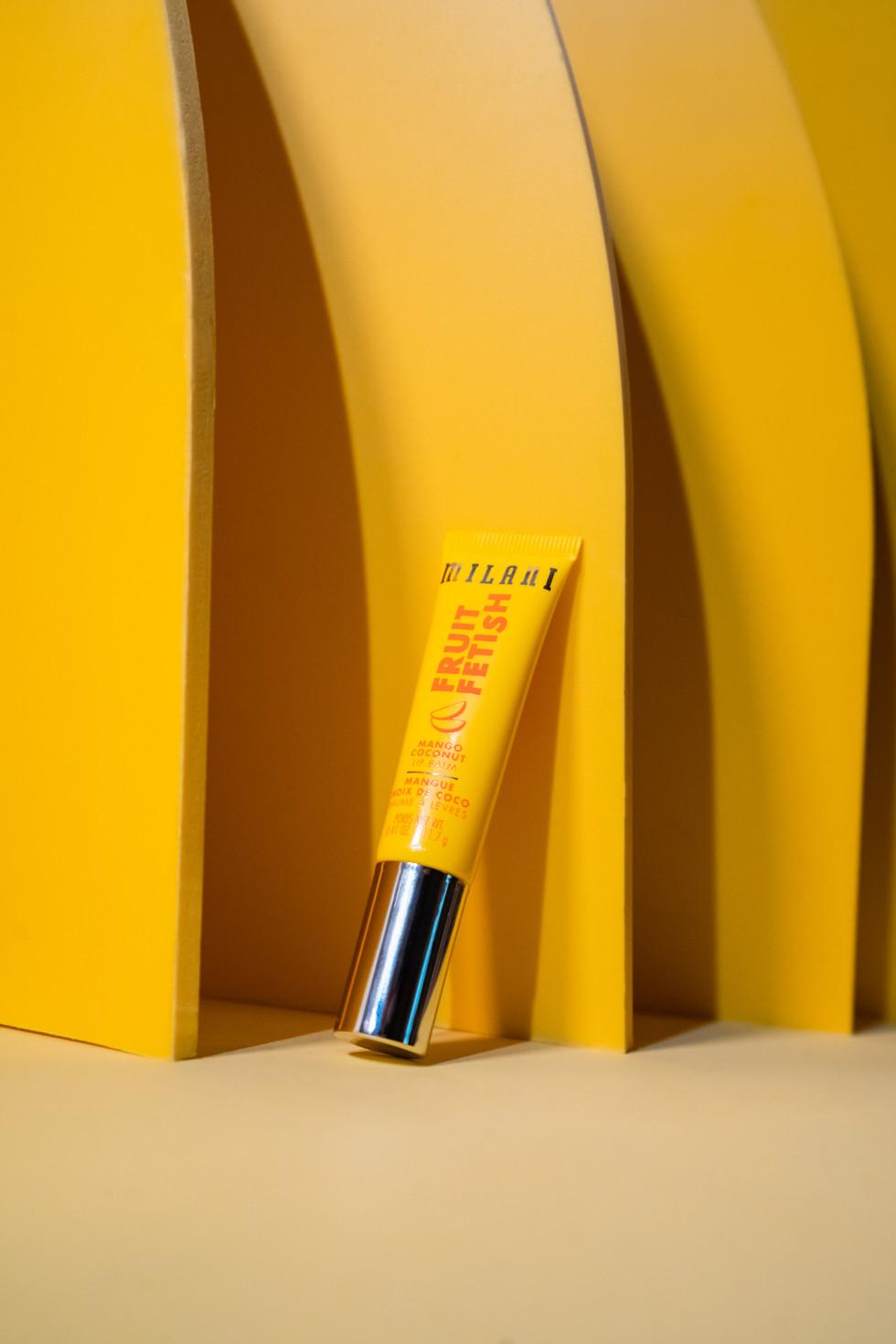 Yellow Lip Gloss | Milani | Product Photography + Styling | Chromatone Studios