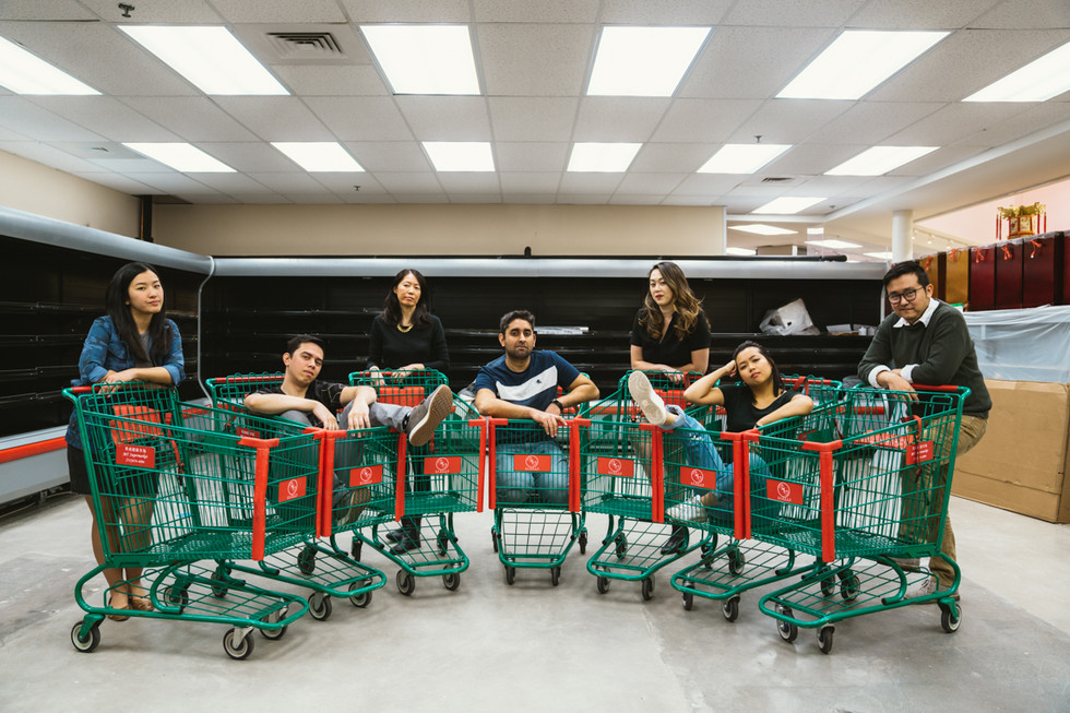 Comedy Crew in Grocery Store | Portrait/Fashion Photography | Chromatone Studios
