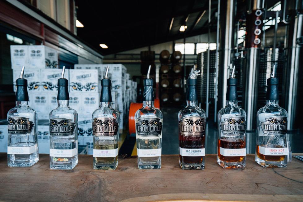 Liquor Bottles in Distillery | Commercial Photography | Chromatone Studios