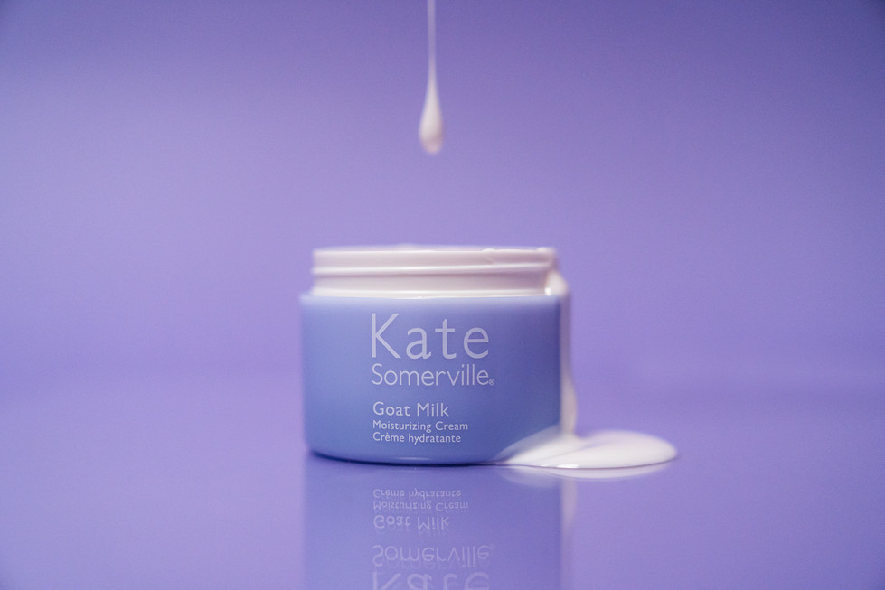 Moisturizer Spill on Lavender | Kate Somerville | Product Photography + Styling | Chromatone Studios