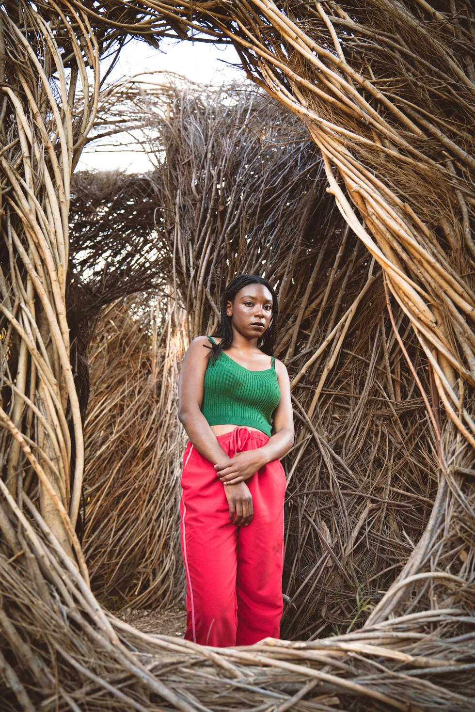 Woman Standing in Tree Sculpture | Portrait/Fashion Photography | Chromatone Studios