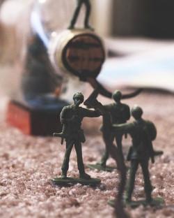 Soldier - Pulling Ship in Bottle