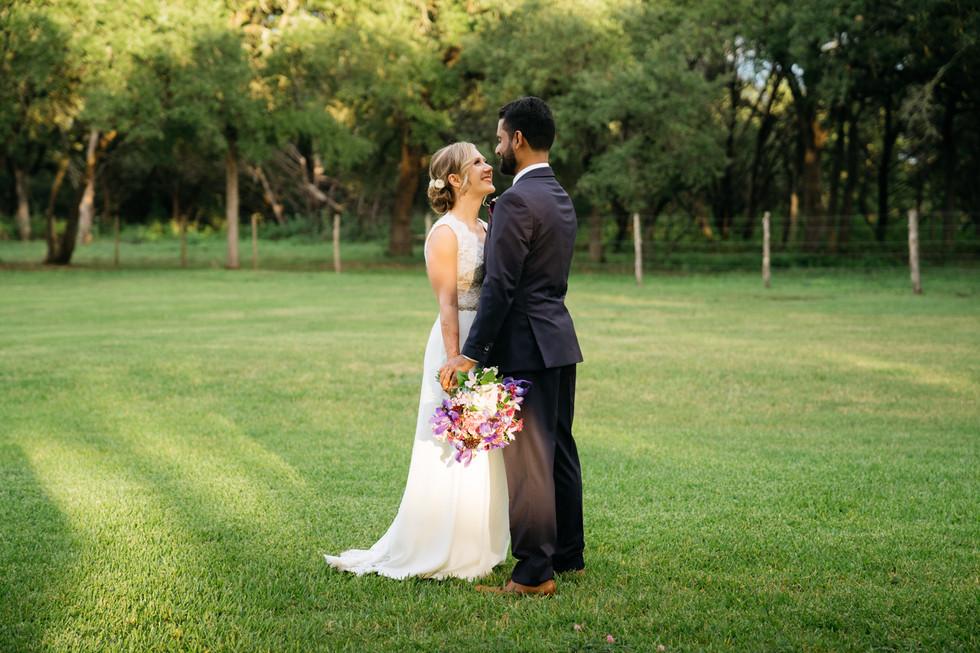 Smiling Bride and Groom Outdoors | Wedding Photography | Chromatone Studios