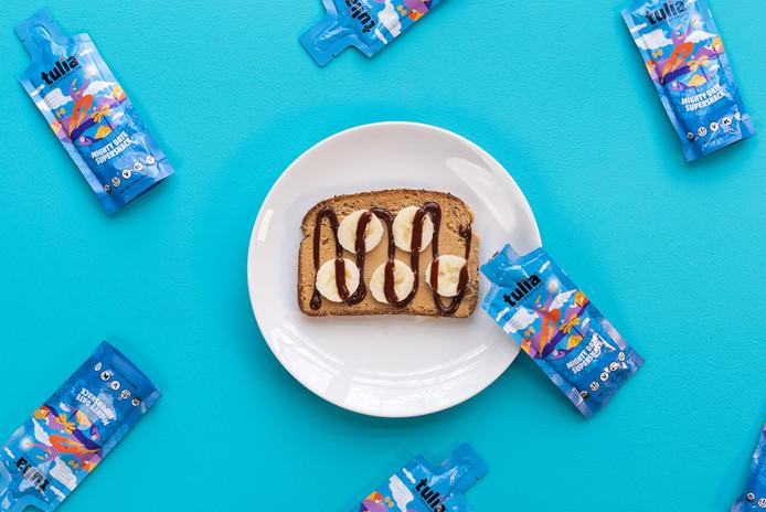 Healthy Breakfast Toast with Bananas | Tulia| Product Photography + Styling | Chromatone Studios
