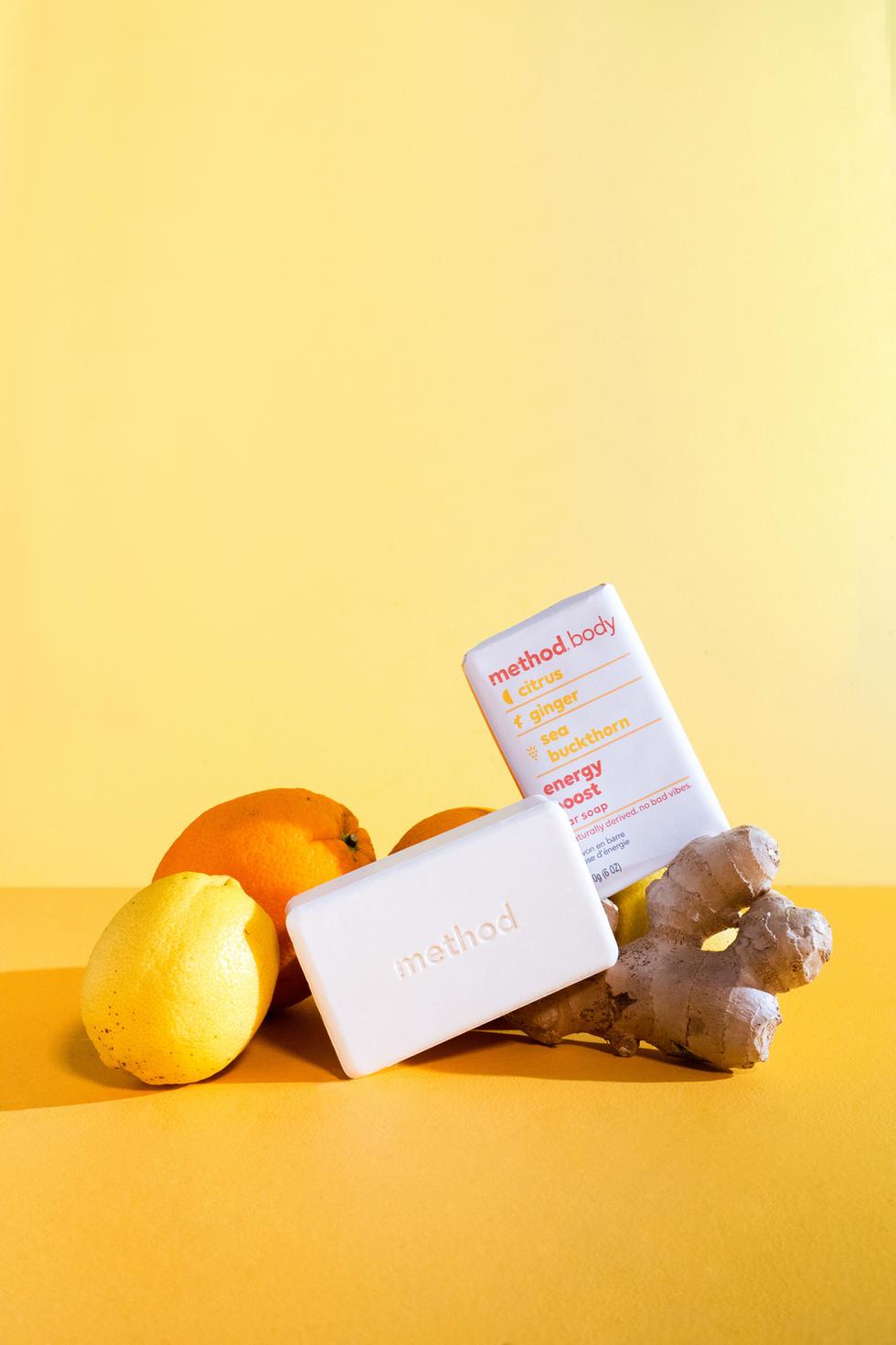 Soap Bar with Citrus + Ginger | Method Body | Product Photography + Styling | Chromatone Studios