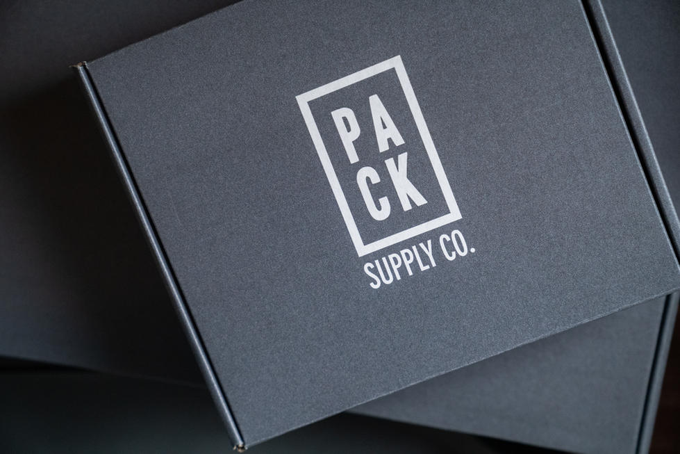 Sleek Gray Packaging | Pack Supply Co. | Product Photography + Styling | Chromatone Studios